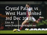 Crystal Palace vs West Ham Uni 3 Dec