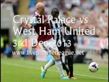 Online Football Crystal Palace vs West Ham Uni 3 Dec