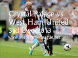 Live Football Crystal Palace vs West Ham Uni 3 Dec
