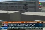 Gob. boliviano inaugura estación para satélite Túpac Katari en El Alto