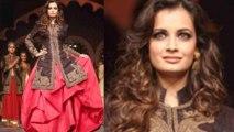 Dia Mirza Walks The Ramp For Raghavendra Rathore Show @ AVIBFW 2013