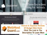 Preview CloudServer - One Page Business - Hosting Template PSD Templates - Technology Download