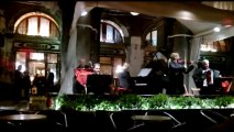 St Mark's Square, Venice and Caffe Florian by night.  Italy. Europe Tours