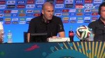 Coupe du Monde 2014 / Zidane espère un groupe difficile pour la France - 06/12