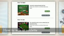 Roulette strategy - roulette system - how to win at roulette