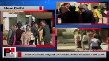 Sonia Gandhi, Priyanka, Rahul cast vote