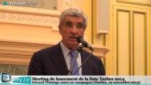 [TARBES] Municipales 2014 Meeting Tarbes 2014 Gérard Trémège (29 novembre 2013) Partie 1
