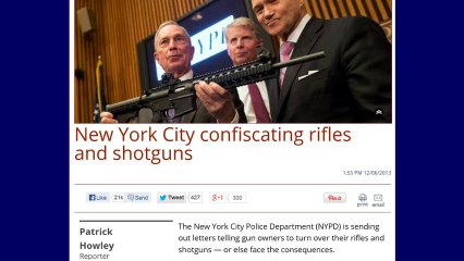 New York City is Confiscating Rifles And Shotguns