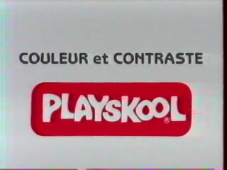 Publicité Couleur et Contraste Playskool 1993