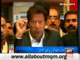 MQM MNA's deep concern over Imran Khan statement on Pak-India joint civil nuclear project