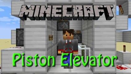 Minecraft: How to build my Piston Elevator, Redstone Tutorial