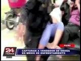 VIDEO: capturan a vendedor de droga en medio de balacera en Piura