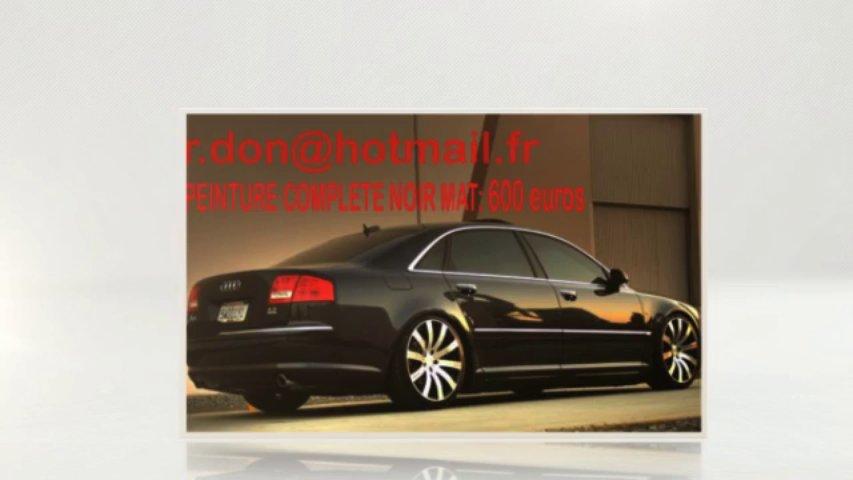Audi A8 noir mat, Audi A8 noir mat, Audi noir mat, Audi A8 Covering noir mat, audi A8 peinture noir mat, Audi A8 noir mat
