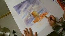 Painting a landscape - Dutch Windmill - Part1