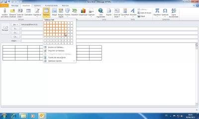 Outlook | Insérer un tableau dans un email