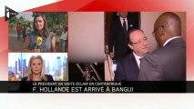 François Hollande à Bangui pour rencontrer les soldats français