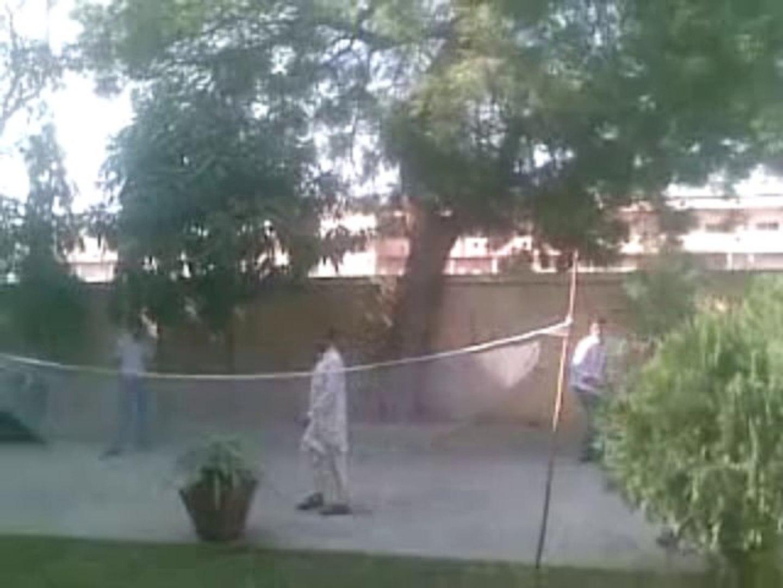 Shiraz mirza playing badminton