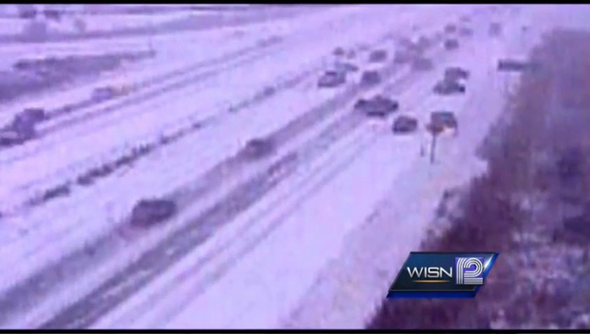 Massive Pileup On Wisconsin Highway 41/45 During Snow Storm