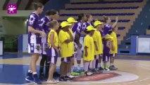 Téléthon 2013 : Lancement d'une rencontre de basketball à Tarbes (65)