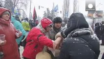 Manifestación frente a un tribunal de apelación de Kiev