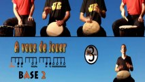 Cours de djembé débutants : FRA base de solo