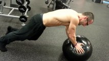 Working Out Obliques, Core Strength, Abs Stability Ball Exercise