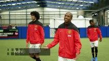 Entrainement avec les pros de Manchester United !! Ashley Young, Marouane Feillaini et Nani