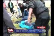 Ayacucho: 4 muertos y más de 15 heridos tras despiste de bus interprovincial