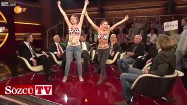 Femen canlı yayını bastı