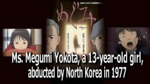 Ms. Megumi Yokota, a 13-year-old girl, abducted by North Korea