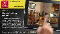 A vendre - maison - LESPARRE MEDOC (33340) - 5 pièces - 136m²