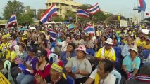 Bangkok (Thailande) 13:12:2013 Democracy Monument before Suthep meeting