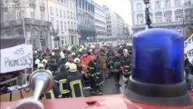 belgian police and firefighters get into a fight