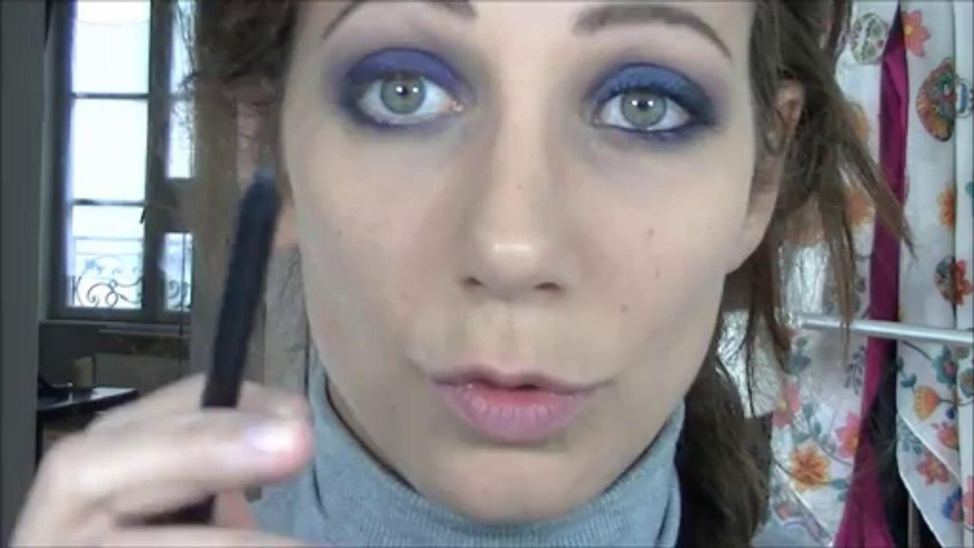 Challenge makeup : le smoky bleu marine