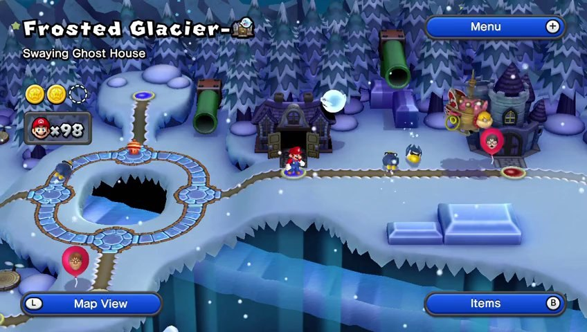 New Super Mario Bros U Walkthrough 32 Frosted Glacier Ghost House