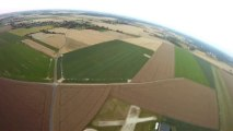 RC airplane - GoPro HD onboard at sunset @ Bernay, France