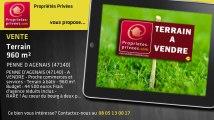A vendre - terrain - PENNE D AGENAIS (47140) - 960m²