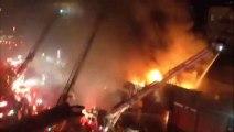New York Firefighters Face Four-alarm Blaze