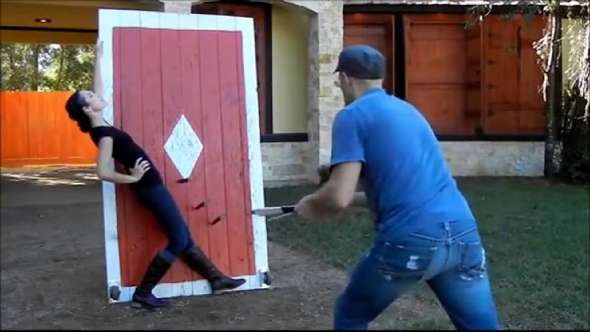 This Knife Throwing Practice Reel Will Have You Biting Your Nails
