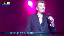 Johnny Hallyday sur les planches du Trianon - 16/12