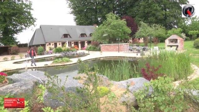 Bassin de jardin en cascade