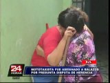 Mototaxista de 19 años fue asesinado a balazos en San Juan de Lurigancho