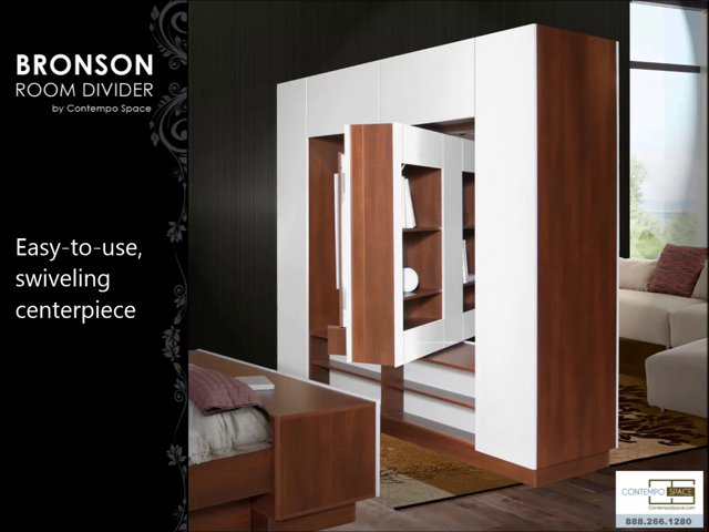 Bronson Room Divider – Wall Unit Room Divider | Item #: 23351