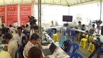Bangkok (Thailande) 15:12:2013 Conference de presse et medias Thai
