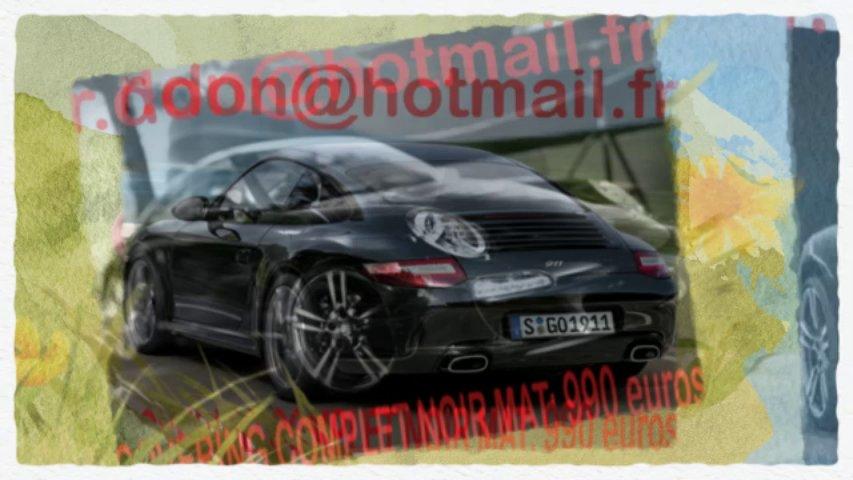 Porsche 911 noir mat, Porsche 911 noir mat, Porsche noir mat, Porsche 911 Covering noir mat, Porsche 911 peinture noir mat, Porsche 911 noir mat