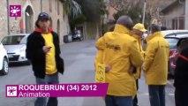 TELETHON ROQUEBRUN 34 - Animations- au profit du Téléthon 2012 - Parrain Teheiura TEAHUI Finaliste de Koh Lanta