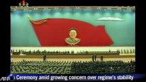 North Korean leader presides over memorial for father