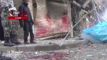 Alep, filmée après les bombardements