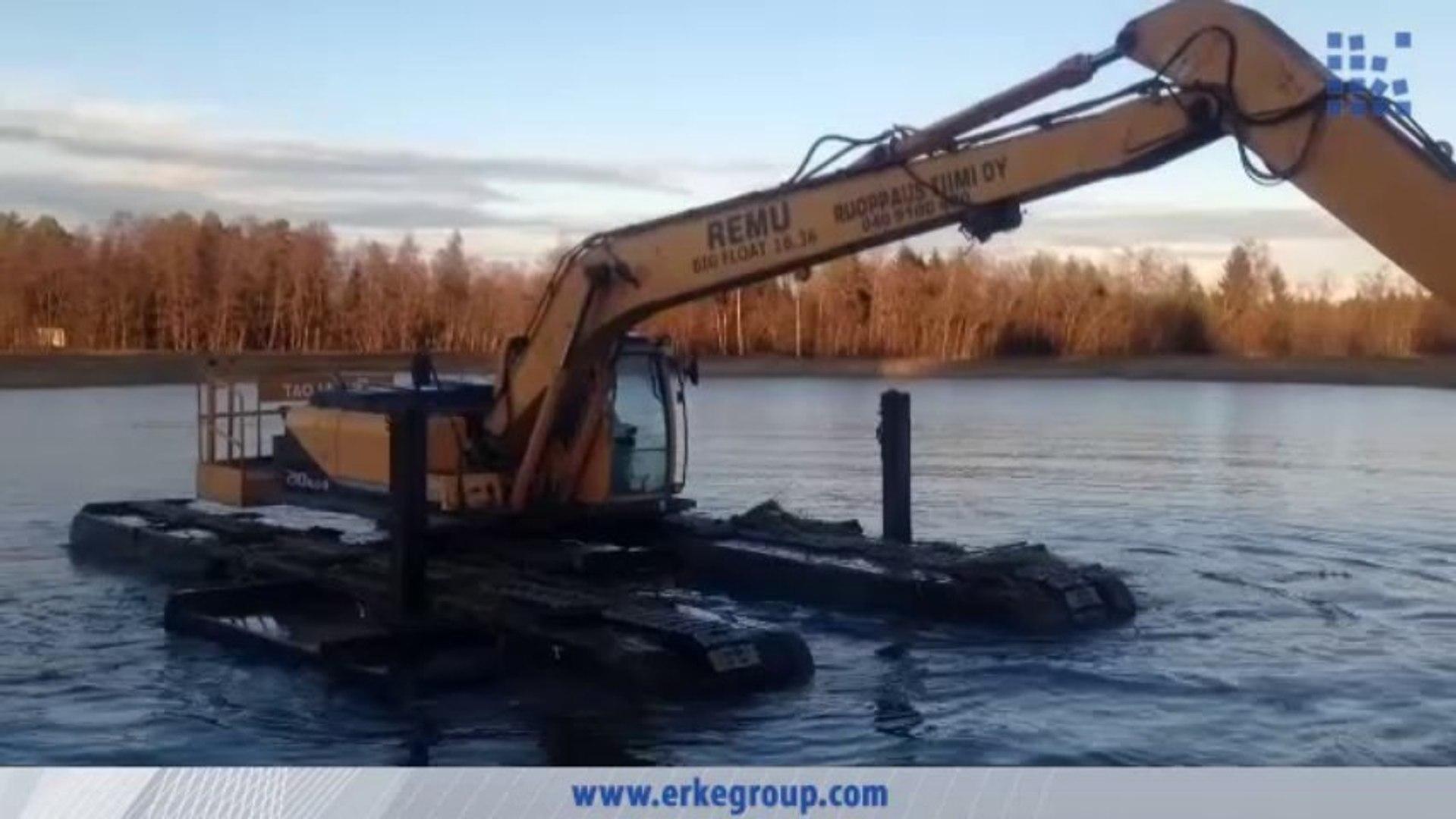 ERKE Dış Ticaret ltd., Big Float 16.36 Amphibious Excavator - River Cleaning - www.erkegroup.com