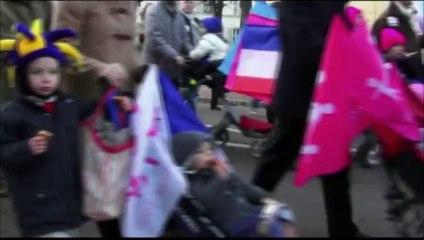 Paris (France) 15/12/2013 - Grande mobilisation du mariage pour TOUS à Versailles